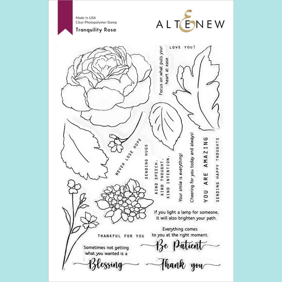 Altenew - Tranquility Rose Stamp Set