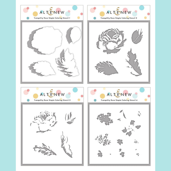 Altenew - Tranquility Rose Simple Coloring Stencil Set