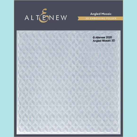 Altenew - Angled Mosaic 3D Embossing Folder