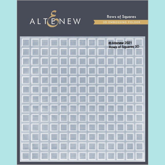 Altenew - Rows of Squares 3D Embossing Folder