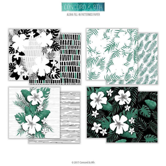 Concord & 9th ALOHA FILL-IN PATTERNED PAPER