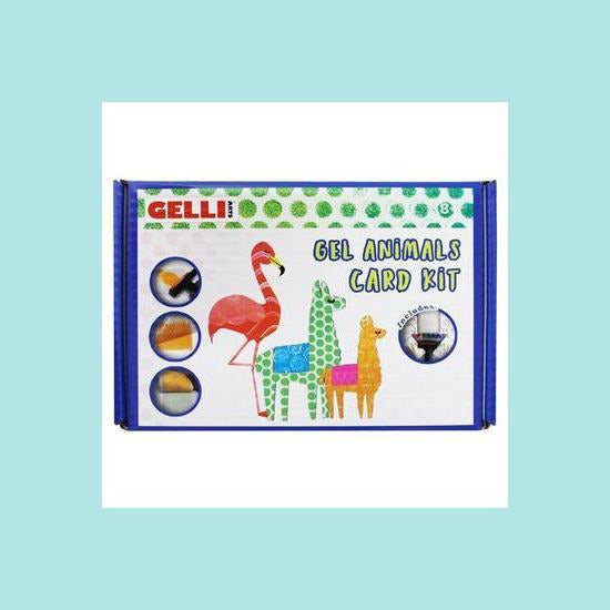 GELLI ARTS - Gel Animals Card Kit