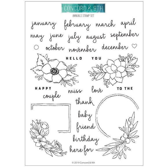 Concord & 9th - Annuals Stamp Set