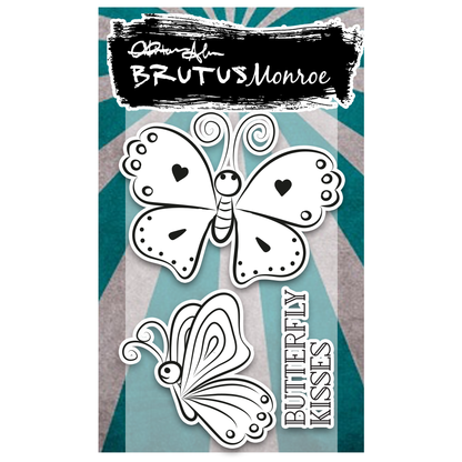 Brutus Monroe - Butterfly Kisses - 2x3 Stamp