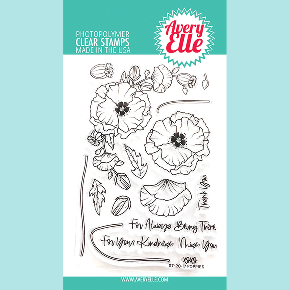 Avery Elle - Poppies Clear Stamps