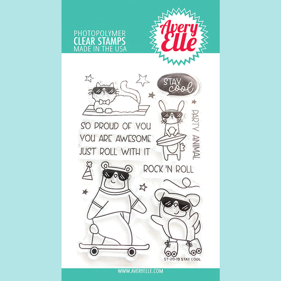 Avery Elle - Stay Cool Clear Stamps