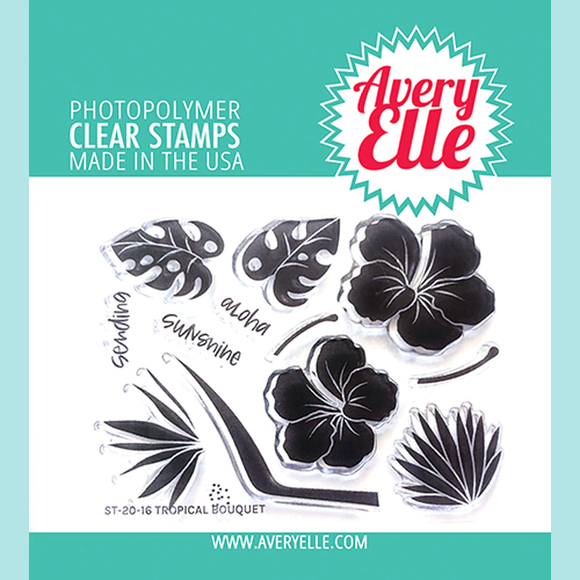 Avery Elle - Tropical Bouquet Clear Stamps
