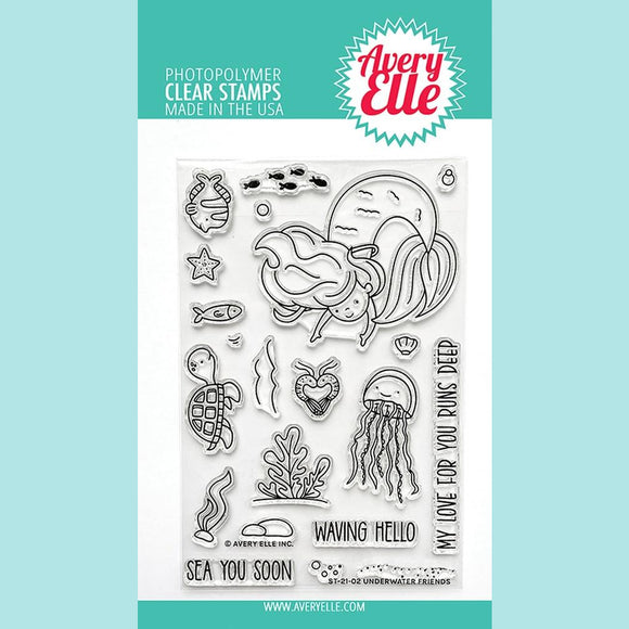 Avery Elle - Underwater Friends Clear Stamp and Die STAMP