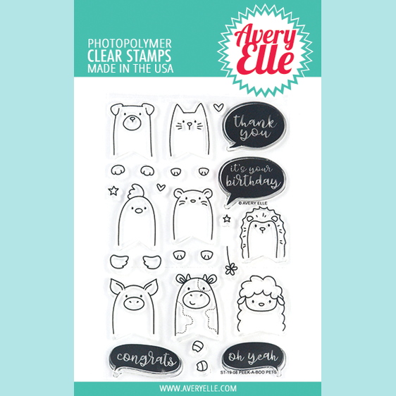 Avery Elle - Peek-A-Boo Pets - Clear Stamps and Die
