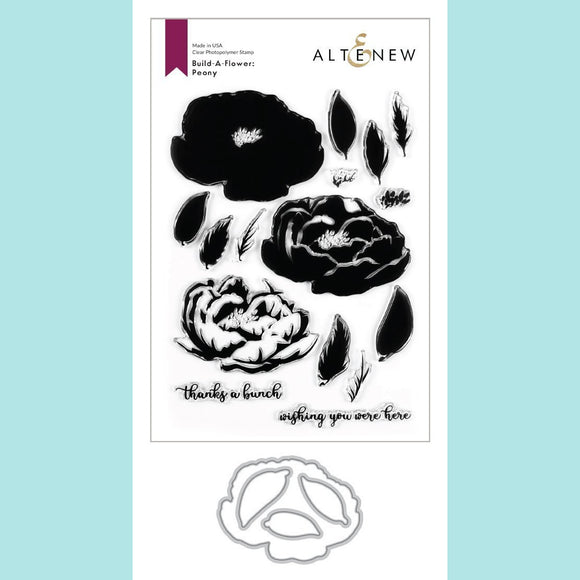 Altenew - Build-A-Flower: Peony Layering Stamp & Die Set
