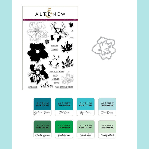 Altenew Build-A-Flower: Larkspur Layering Stamp and Die Set & Ink Bundle