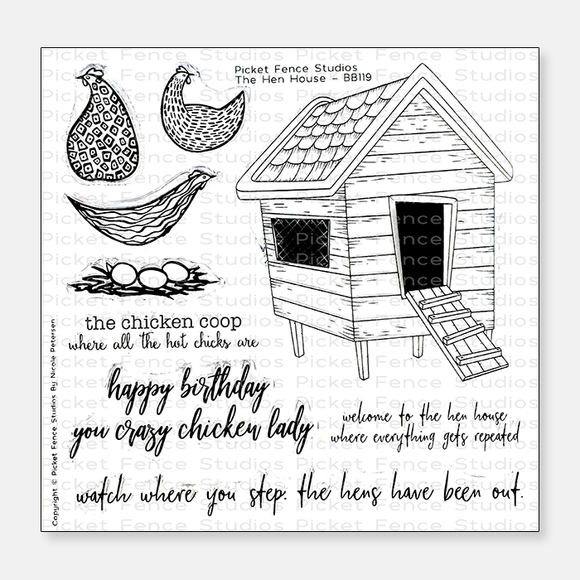 Picket Fence Studios - The Hen House Stamps and Dies