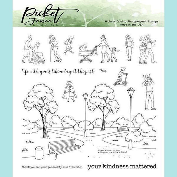 Picket Fence Studios - A Walk in the Park Stamps