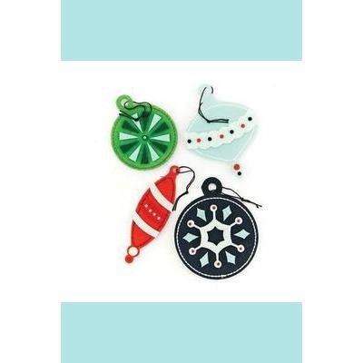 Basic Grey Nordic Holiday - Felt Stickers - Christmas