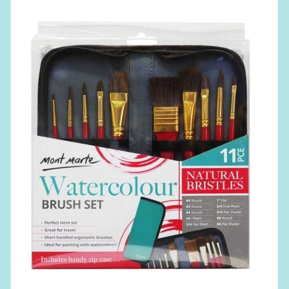 Mont Marte - Brush Set in Wallet 11pc - Watercolour