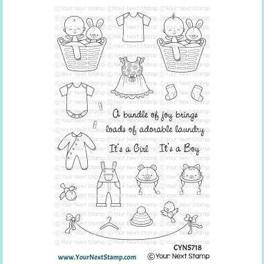 Your Next Stamp - Baby Clothes Line Stamp and Die