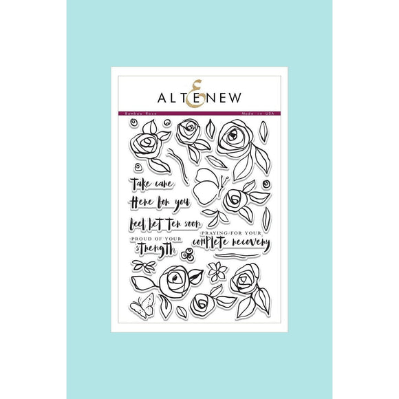 Altenew Bamboo Rose Stamp & Die Sets