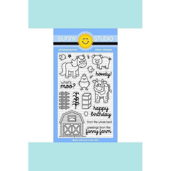 Sunny Studio Stamps - Barnyard Buddies Stamp and Die