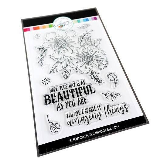 Catherine Pooler - Beautiful Day Floral Stamp Set