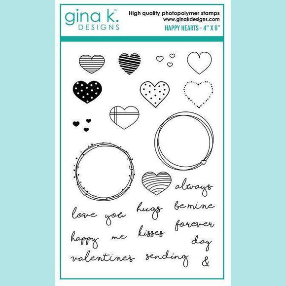 Gina K Designs - Beth Silaika- Happy Hearts Stamp and Die Sets