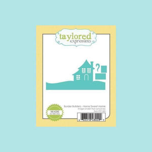 Medium Aquamarine Taylored Expressions - Border Builders - Home Sweet Home Dies
