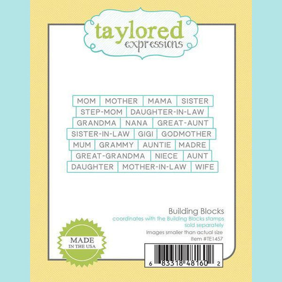 Taylored Expressions - Building Blocks Dies