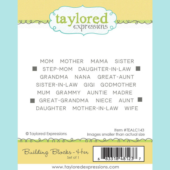 Taylored Expressions - Building Blocks - Her