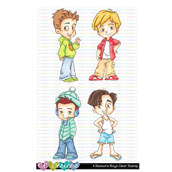 C.C. Designs - 4 Seasons Boys Clear Stamp Set