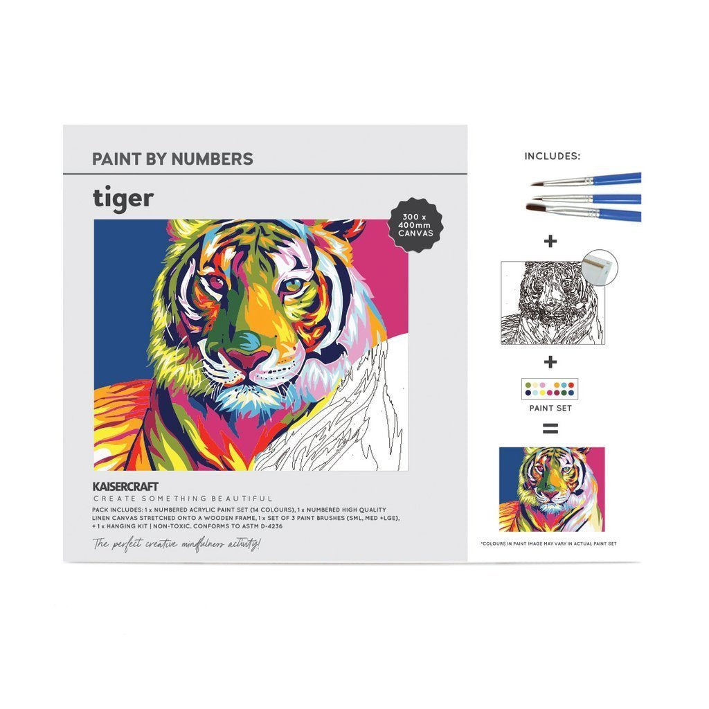 Kaisercraft - Paint by Numbers Canvas - Tiger