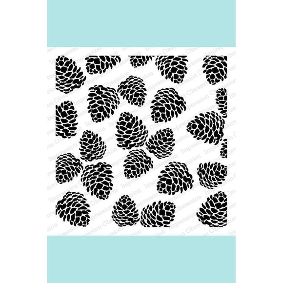Impression Obsession Pinecones Stamp