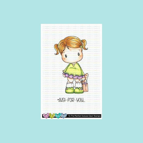 C.C. Designs -  To the Market Swissie Clear Stamp Set