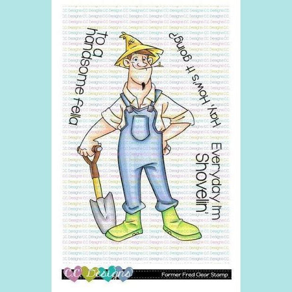 C.C. Designs - Farmer Fred Clear Stamp Set