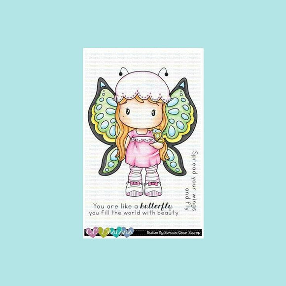 C.C. Designs -  Butterfly Swissie Clear Stamp Set