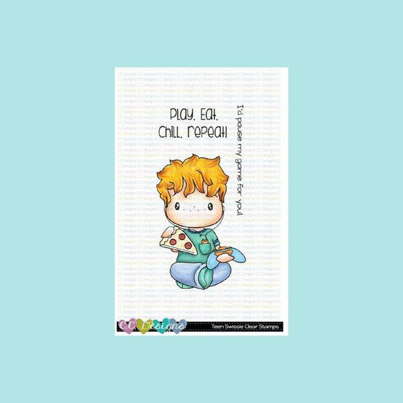 C.C. Designs -  Teen Swissie Clear Stamp Set