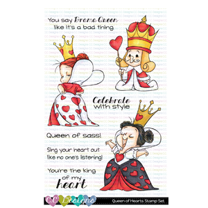 CC Designs - Queen Of Hearts Clear Stamp Set