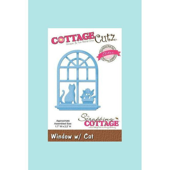 CottageCutz Die - Window w/ Cat