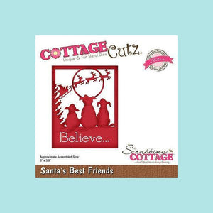 CottageCutz Die - Santa's Best Friends