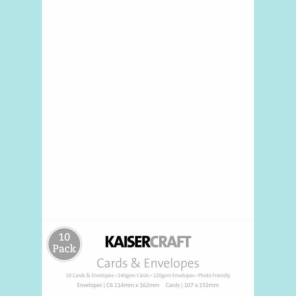 Kaisercraft - Cards & Envelopes - C6