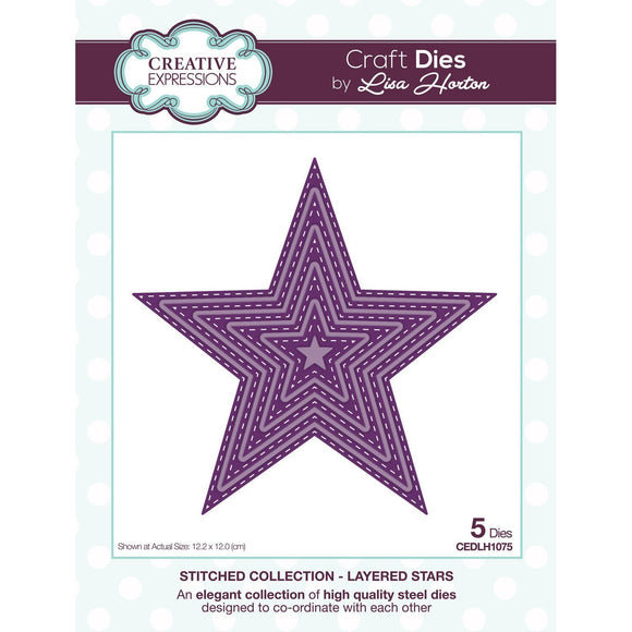 Creative Expressions - Stitched Collection - Layered Stars Die