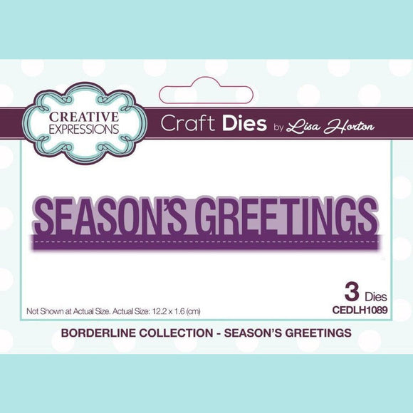 Creative Expressions - Borderline - Seasons Greetings Die