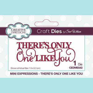 Creative Expressions - Mini Expressions Dies - By Sue Wilson - There's Only One Like You
