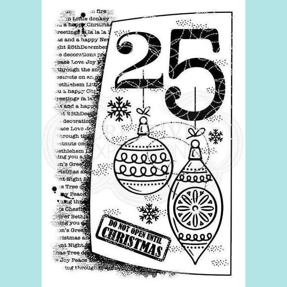 Woodware - Clear Stamp - 25th December