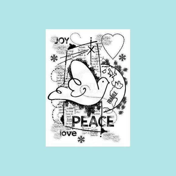 Woodware - Clear Stamp - World Peace