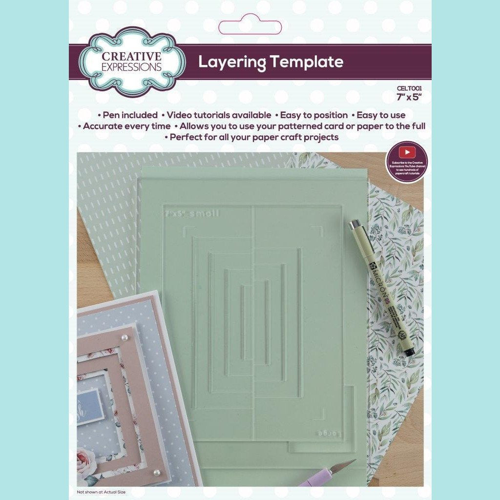 Creative Expressions - Layering Template 7 in x 5 in