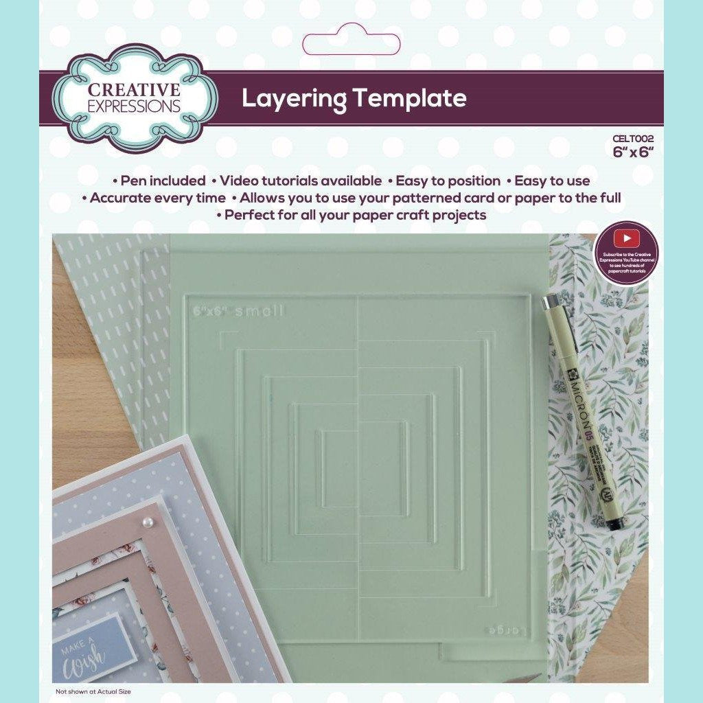 Creative Expressions - Layering Template 6 in x 6 in