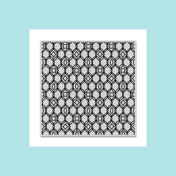 Hero Arts Filigree Pattern Bold Prints Stamp