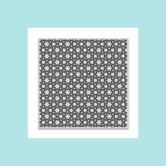 Hero Arts Floral Tile Bold Prints Stamp