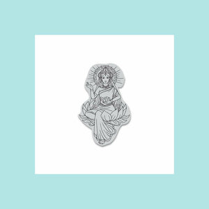Hero Arts - Lotus Lady Cling Stamp, Woodblock Stamp and Frame Cut Die