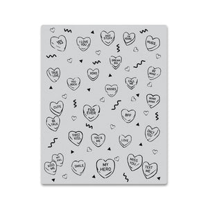Hero Arts - Candy Hearts Peak-A-Boo Cling Stamp