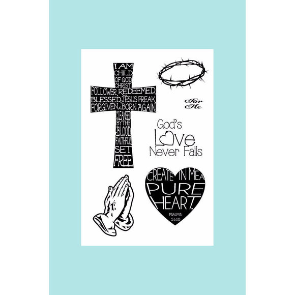 Joy Clair - God's Love - Bible Journaling Stamp